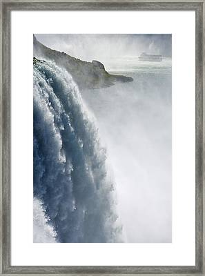 The American Falls And Maid Framed Print by Darwin Wiggett