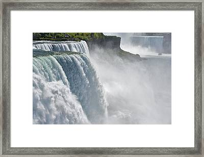 The American Falls From Prospect Point Framed Print by Darwin Wiggett