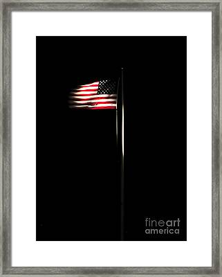 The American Flag Flies Over Naval Framed Print