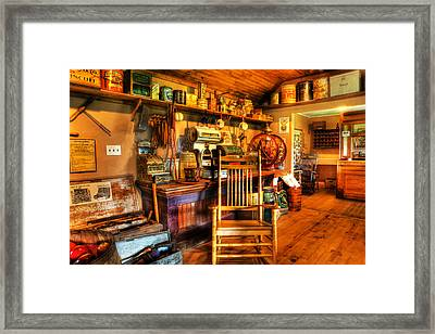 The American General Store -  - Vintage - Nostalgia Framed Print by Lee Dos Santos