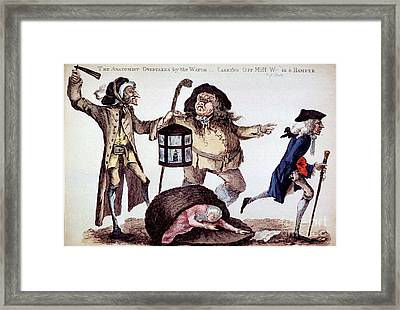 The Anatomist Overtaken By The Watch Framed Print by Science Source