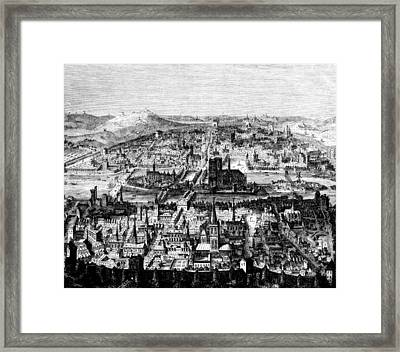 The Ancient City Of Paris, C. 1780 Framed Print by Everett
