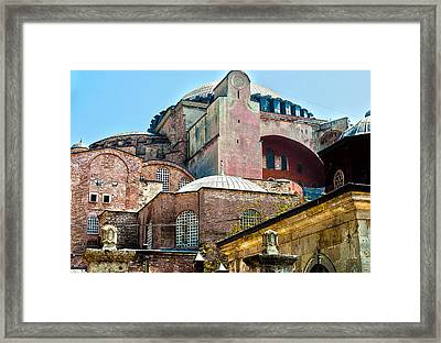 The Ancient Hagia Sophia Framed Print by MaryJane Armstrong