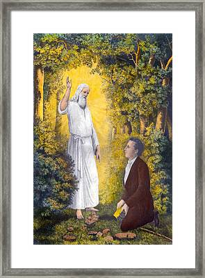 The Angel Moroni Delivering The Plates Framed Print