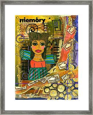 The Angel Of Fond Memories Framed Print by Angela L Walker
