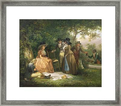 The Angler's Repast  Framed Print by George Morland