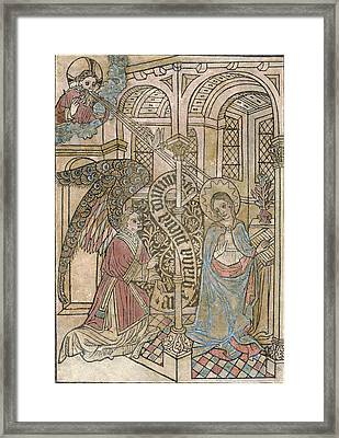 The Annunciation, Depicting Framed Print by Everett