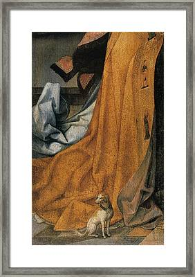 'the Annunciation' Painting By Jean Bellegambe Framed Print by Photos.com