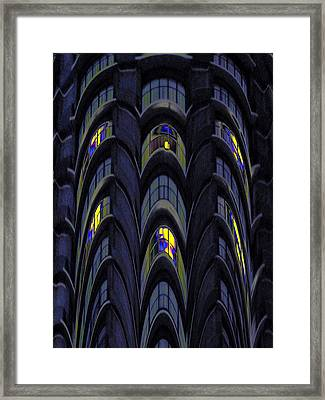 The Apartment Block Framed Print by Tim Allen