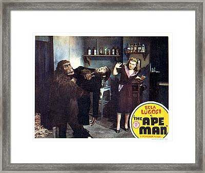 The Ape Man, From Left Emil Van Horn Framed Print