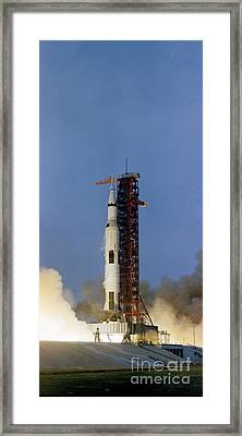 The Apollo 13 Space Vehicle Is Launched Framed Print by Stocktrek Images