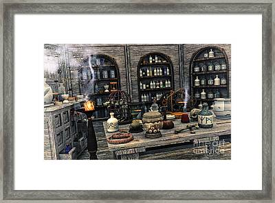 The Apothecary Framed Print by Jutta Maria Pusl