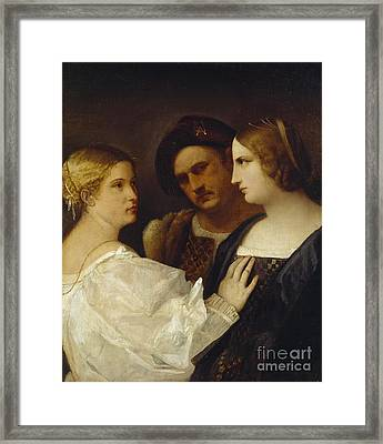 The Appeal  Framed Print by Tiziano Vecellio Titian