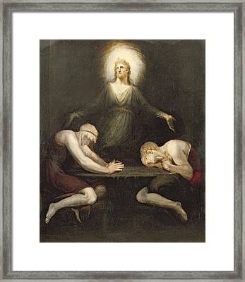 The Appearance Of Christ At Emmaus Framed Print by Henry Fuseli