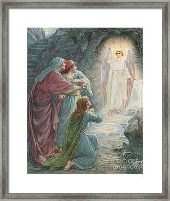 The Appearance Of The Angel Framed Print by Ambrose Dudley