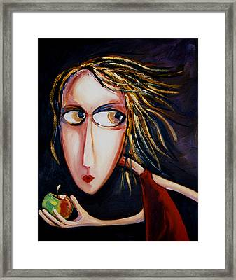 The Apple Framed Print by Leanne Wilkes