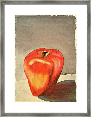 Framed Print featuring the painting The Apple Of by Teresa Beyer