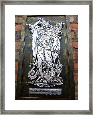 The Archangel Michael Weighing Souls Framed Print by Cacaio Tavares