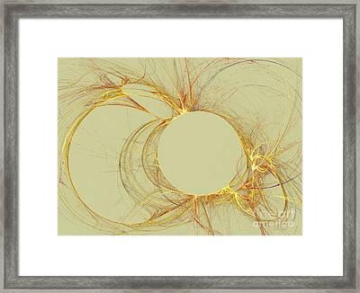Framed Print featuring the digital art The Arcs by Kim Sy Ok