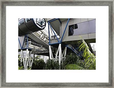 The Area Below The Capsules Of The Singapore Flyer Framed Print by Ashish Agarwal