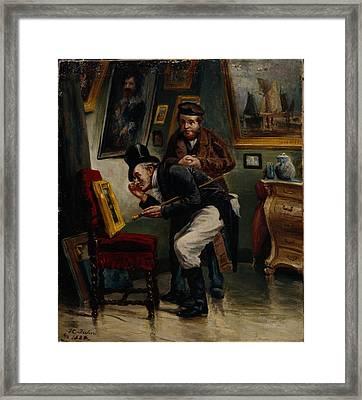 The Art Dealer Framed Print
