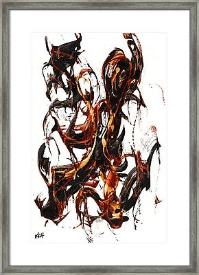 The Art Of Languishing Liquidly Well  22.120110 Framed Print by Kris Haas