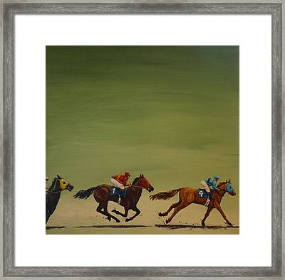 The Art Of Racing Framed Print by Jennifer Lynch