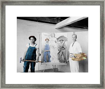 The Artist Framed Print by Andrew Fare