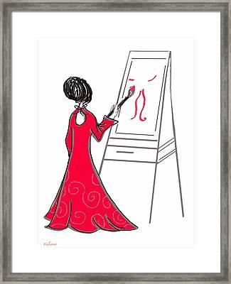 The Artist Framed Print by Celestina Quick