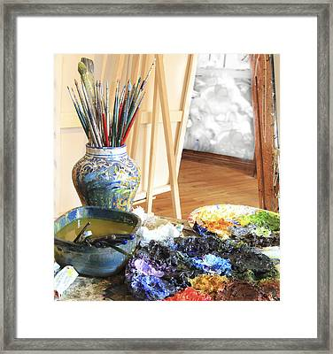 Framed Print featuring the photograph The Artist Corner by Nick Mares
