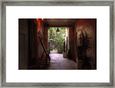 The Artists Secret Garden Framed Print