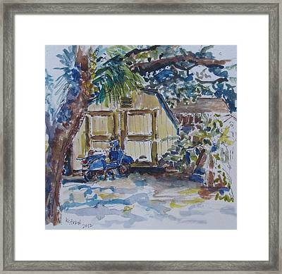 The Artist's Shed Framed Print by Kellie Straw