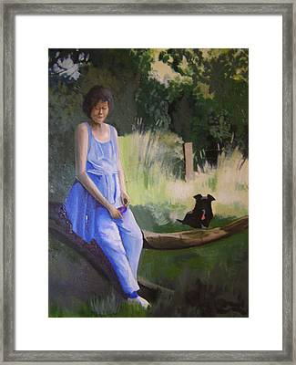 The Artist's Wife With Jasper Framed Print