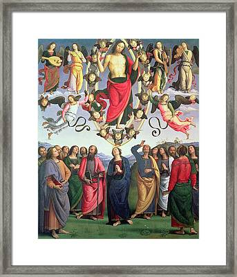 The Ascension Of Christ Framed Print by Pietro Perugino