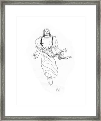 The Ascention Framed Print by Miguel De Angel