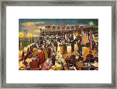 The Astor Hotel Roof Framed Print by Dwight Goss