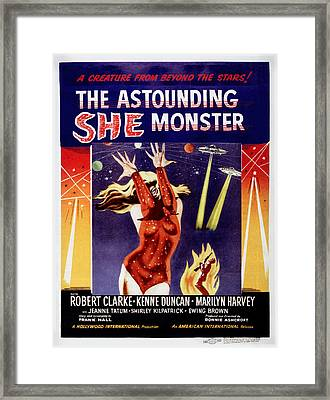 The Astounding She-monster, Poster Art Framed Print by Everett