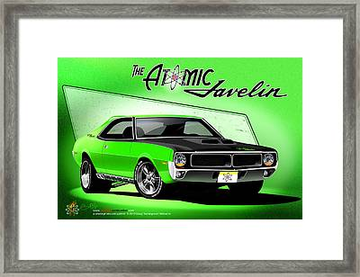 The Atomic Javelin Framed Print