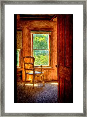 The Attic View Framed Print