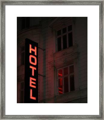The Attraction Of Anonymity Framed Print by Odd Jeppesen