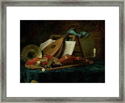The Attributes Of Music Framed Print