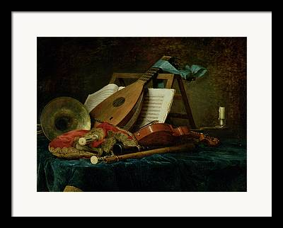 The Attributes Of Music Framed Prints