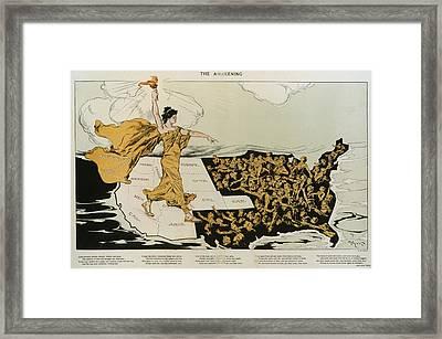 The Awakening. A Torch-bearing Female Framed Print by Everett