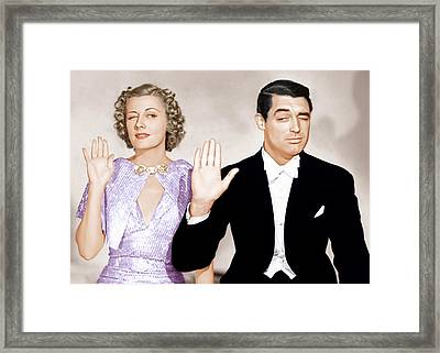 The Awful Truth, From Left Irene Dunne Framed Print
