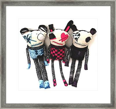 The Ax Trio Framed Print by Oddball Art Co by Lizzy Love
