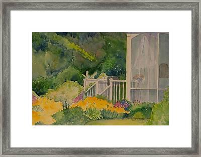 The Back Porch Framed Print