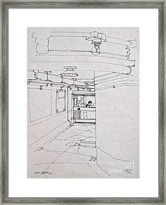 The Backroad Framed Print