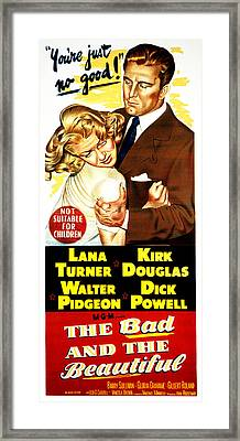 The Bad And The Beautiful,  Lana Framed Print by Everett