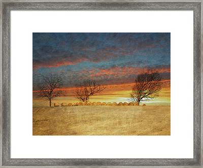 The Bailing Is Done Framed Print by Kathy Jennings