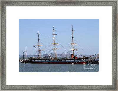 The Balclutha . A 1886 Square Rigged Cargo Ship At The Hyde Street Pier In Sf California . 7d14069 Framed Print